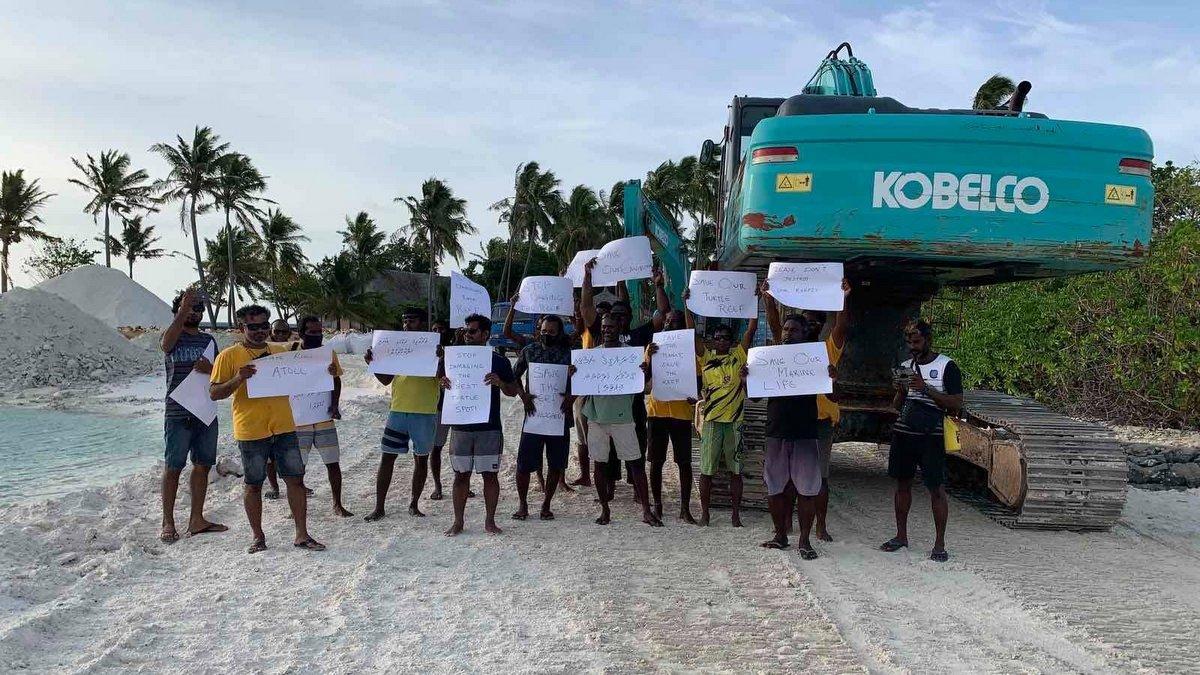 Protect Marine Areas Maldives campaigns
