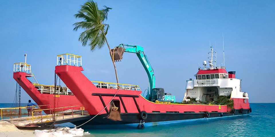 savemaldives treegrab Maldives environmental campaign